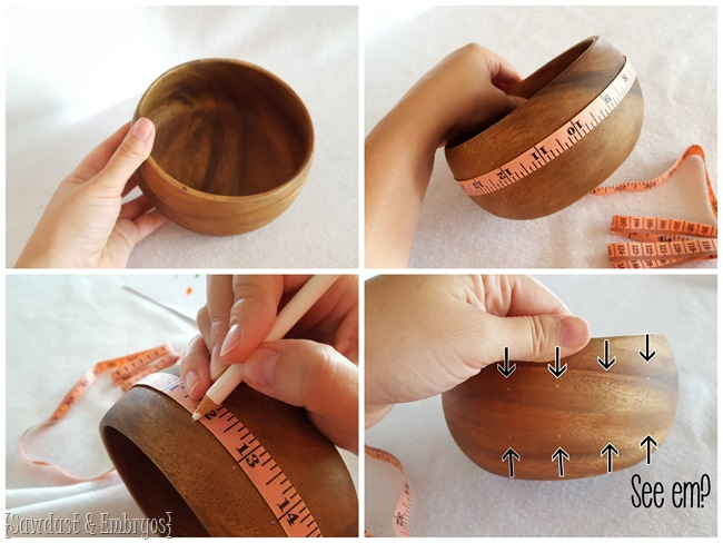 Modify a wooden bowl to add a custom little touch! {Sawdust and Embryos}