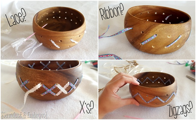 Modifying a simple wooden bowl to be custom and creative! {Sawdust and Embryos}