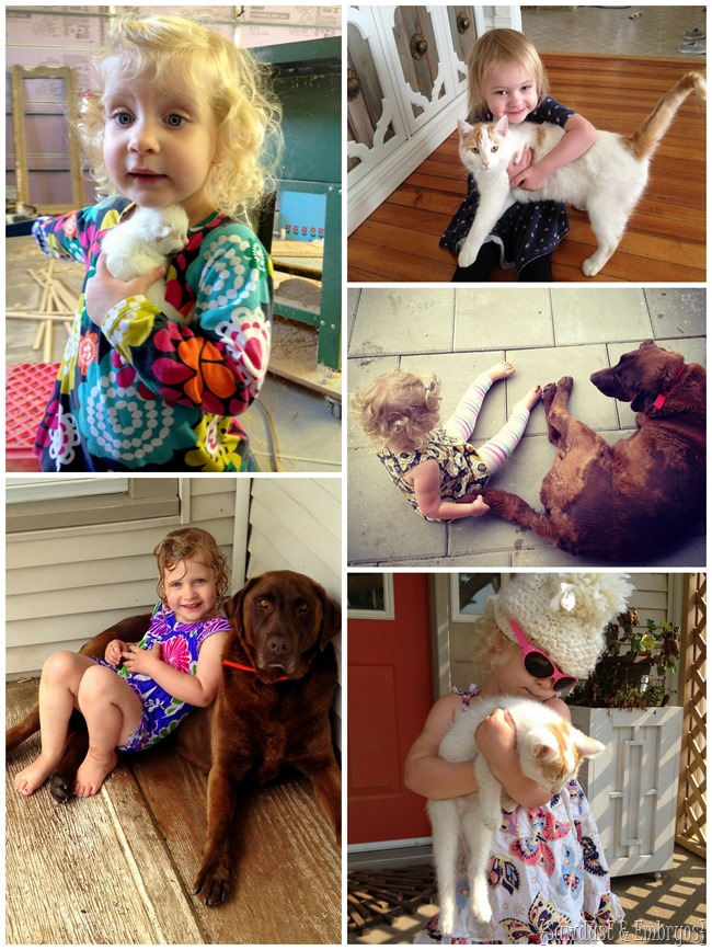 So cute when kids LOVE animals! {Sawdust and Embryos}