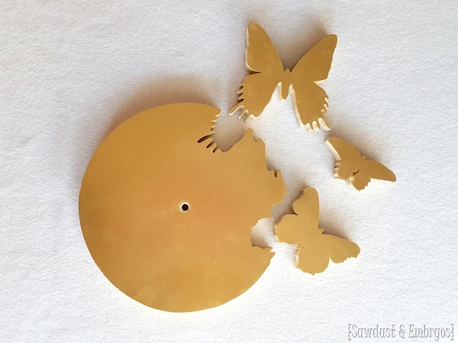 Cut-out Butterfly Clock using a scroll saw {Sawdust and Embryos}