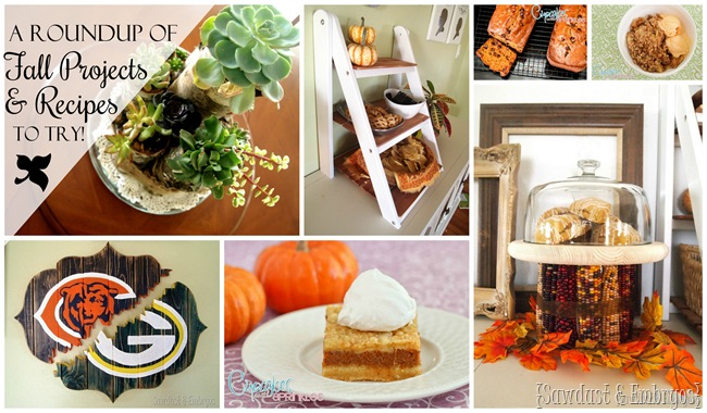 DIY Projects and Recipes to try this fall! {Sawdust and Embryos}