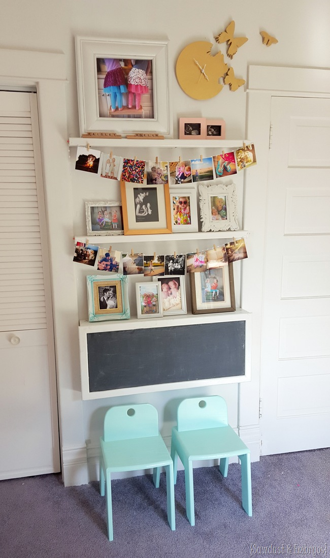 Diy Fold Down Children S Desk With Storage Inside And Chalkboard On Outside