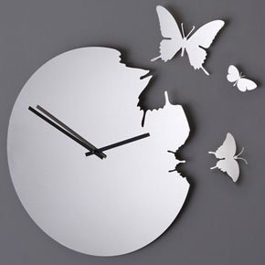 How to make your own cut-out butterfly clock!