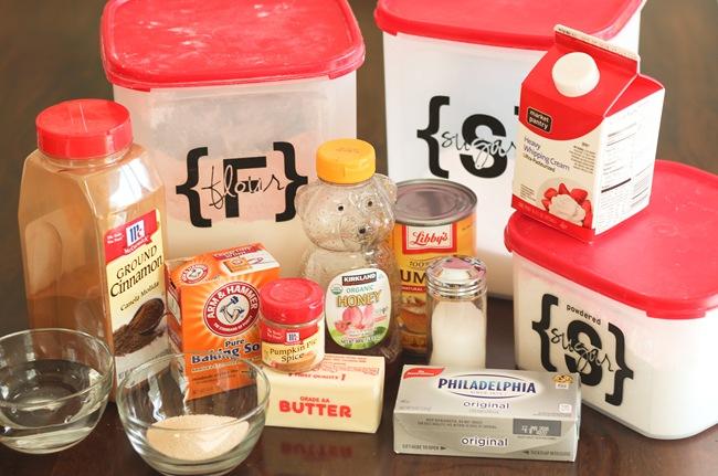 Ingredients for Pumpkin Cinnamon Sugar Pretzels {Cupcakes with Sprinkles}