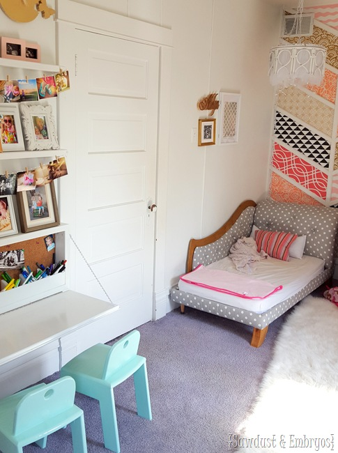 Little girls' room with new Murphy Desk