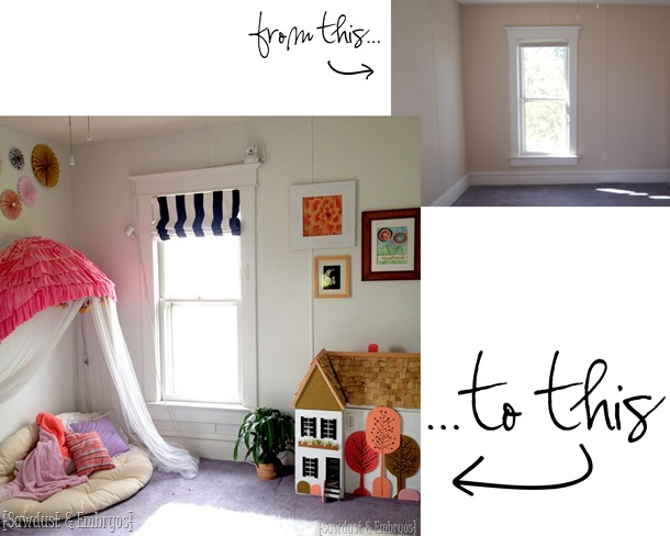 Little girls' room transformation {Sawdust and Embryos}