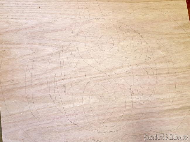 Make a wooden pumpkin monogram using a scroll saw or jigsaw! {Sawdust and Embryos}
