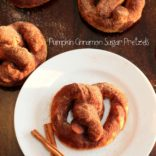 Soft Pumpkin Pretzels w/ Cinnamon and Sugar!