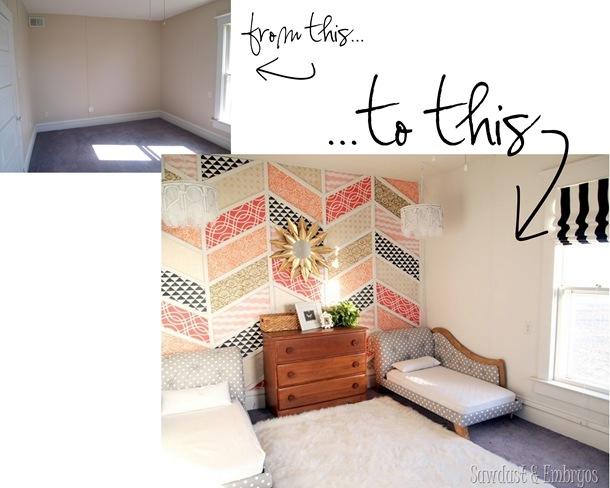 Twins' room transformation {Sawdust and Embryos}