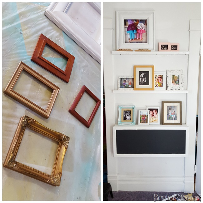 Add an assortment of picture frames for the final touches