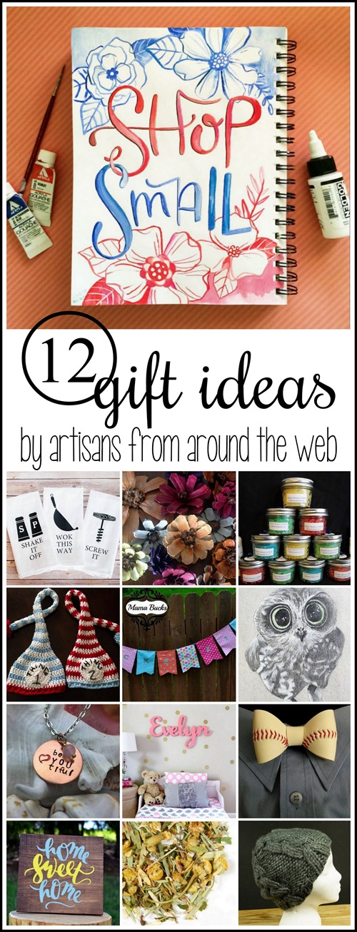 12 unique gift ideas from creative artisans from around the web! SHOP SMALL! {Sawdust and Embryos}