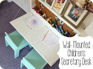 Fold-down Children's table with storage inside, and a chalkboard on the outside! {Sawdust & Embryos}