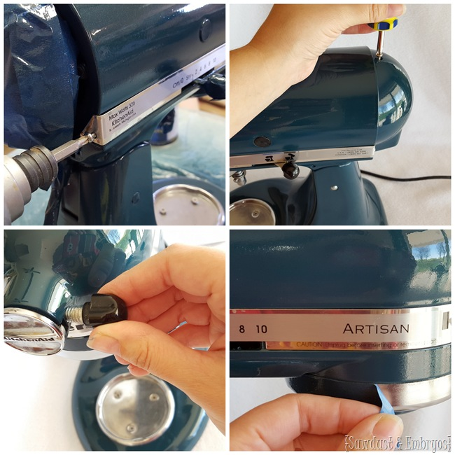 How to PAINT your Kitchen Aid mixer and have it look professional! {Sawdust and Embryos}