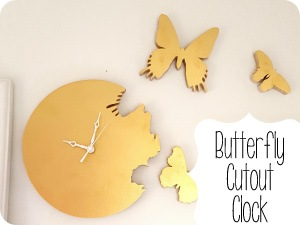 How to make your own butterfly 'cutout' clock... where it looks like the butterflies are flying out of the clock! (Sawdust & Embryos].png