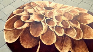 Shading with Stain ART on a dining Table! {Reality Daydream}