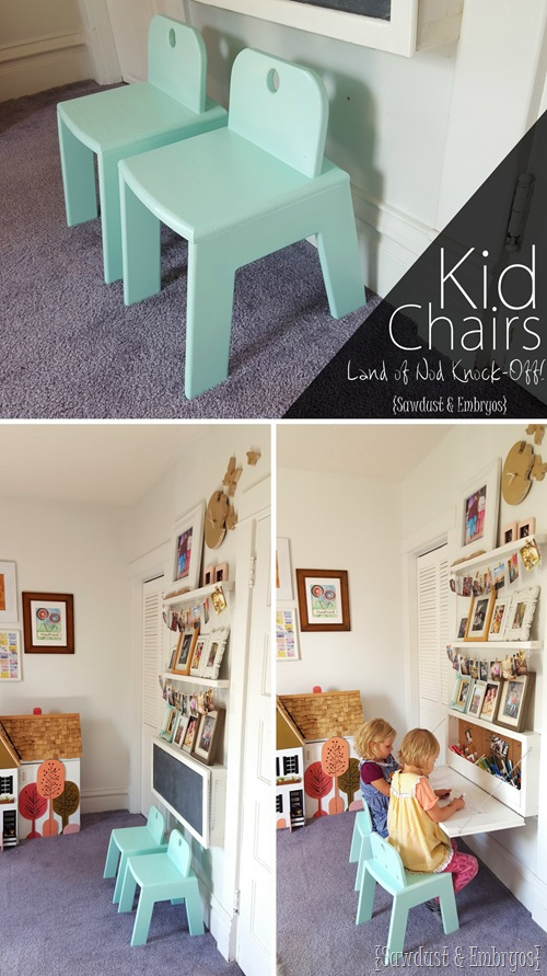 Tutorial o how to build these SUPER sturdy and adorable Mod Kid's Chairs... a Land of Nod Knock-off! {Sawdust and Embryos}