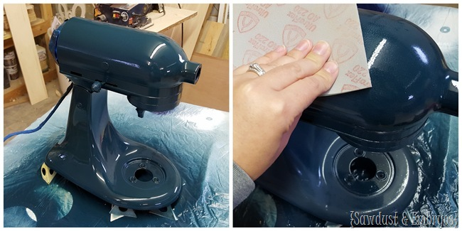 Tutorial on PAINTING your Kitchen Aid Mixer!! {Sawdust and Embryos}