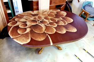 Unique Shading with Stain ART on furniture! {Reality Daydream}