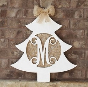 Christmas Tree Monogram Cutout
