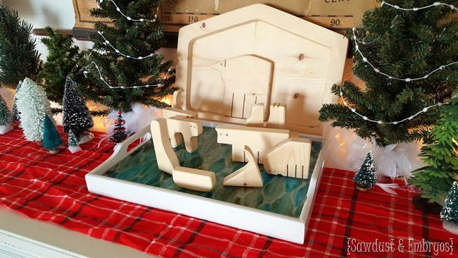 Wooden nativity puzzle {Sawdust and Embryos}