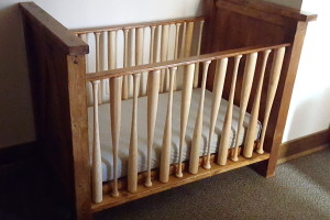 Build a crib for your little slugger USING BASEBALL BATS as the crib rungs!! {Reality Daydream}
