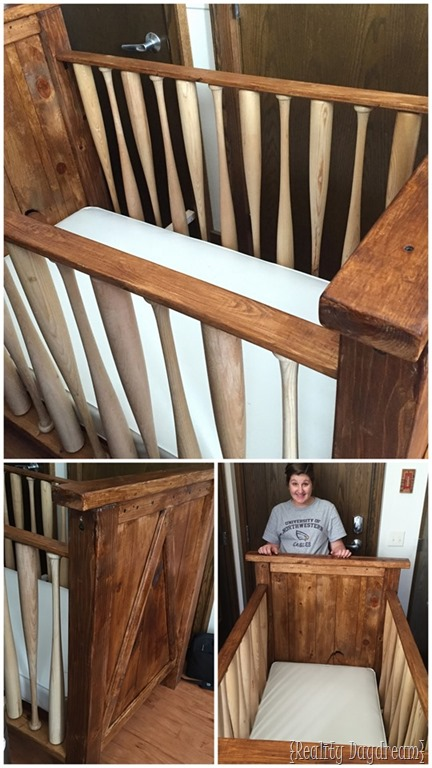 Baseball Bat Crib Finishing