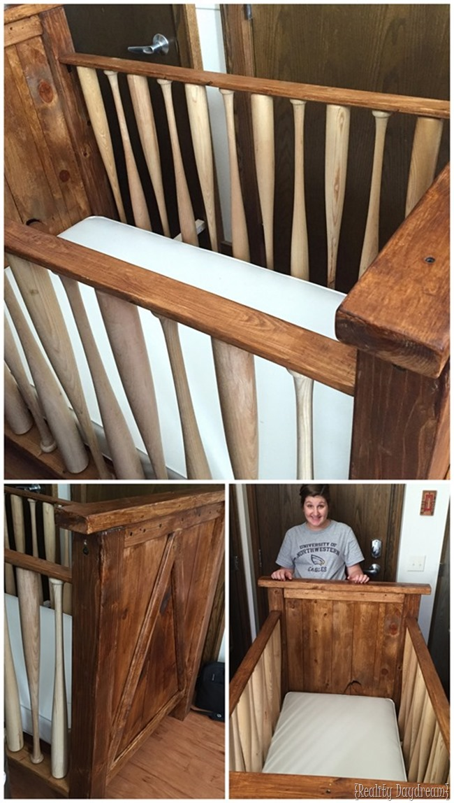 Build your own baby crib WITH BASEBALL BATS! {Sawdust & Embryos}