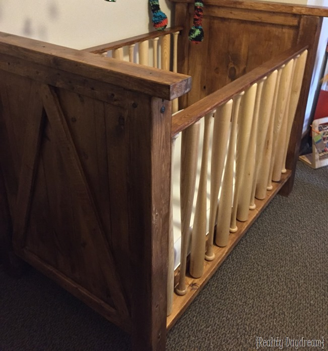 DIY Baby Crib with BAEBALL BATS as the sides! {Sawdust and Embryos}