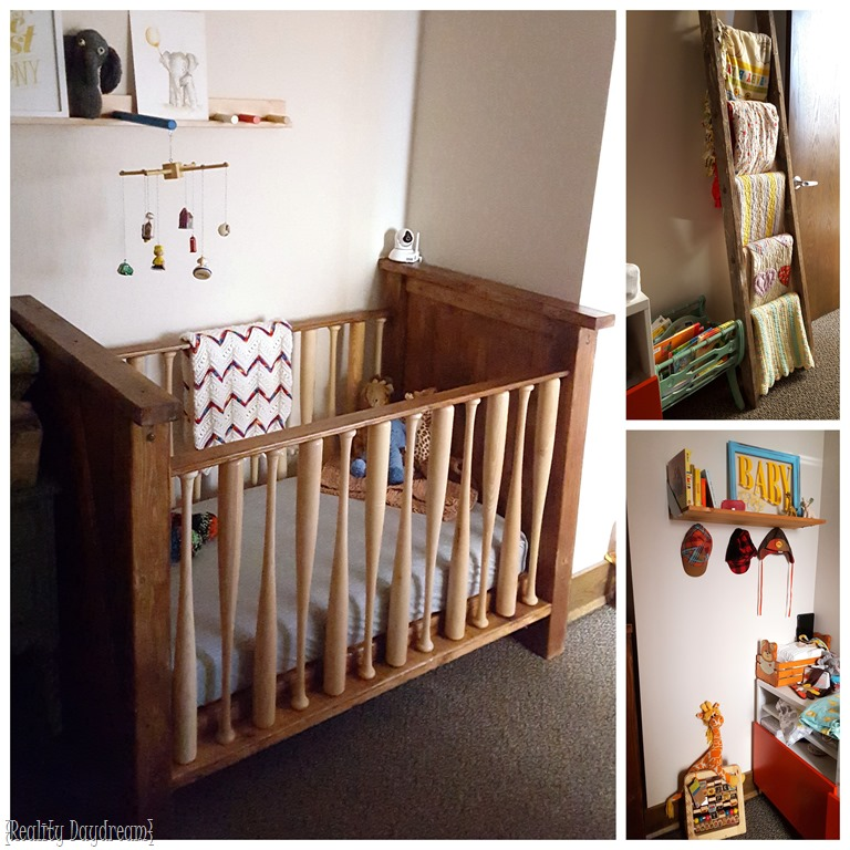 Diy Baby Crib With Baseball Bats As The Rungs Reality Daydream