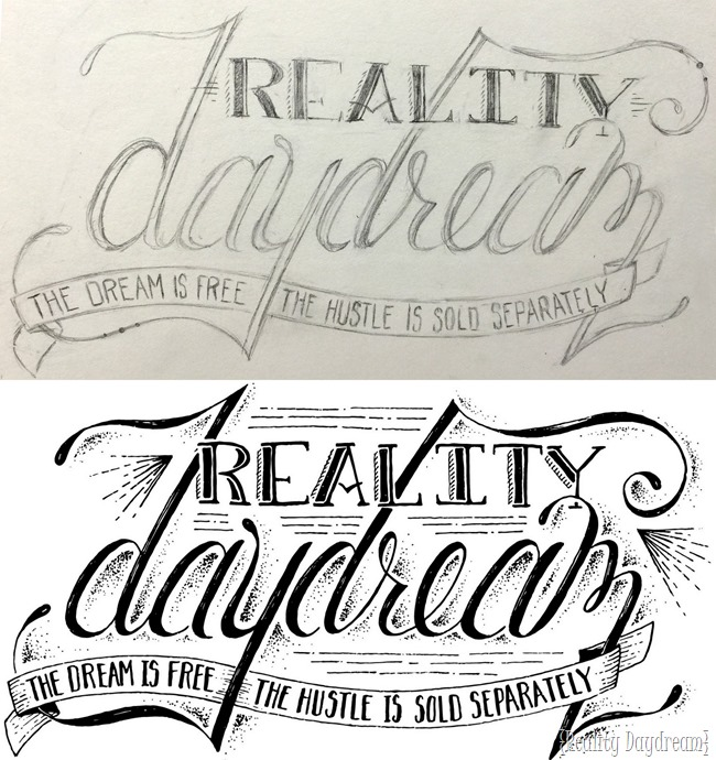 Hand Lettering for Reality Daydream... by Dawn at Mint and Salt Co