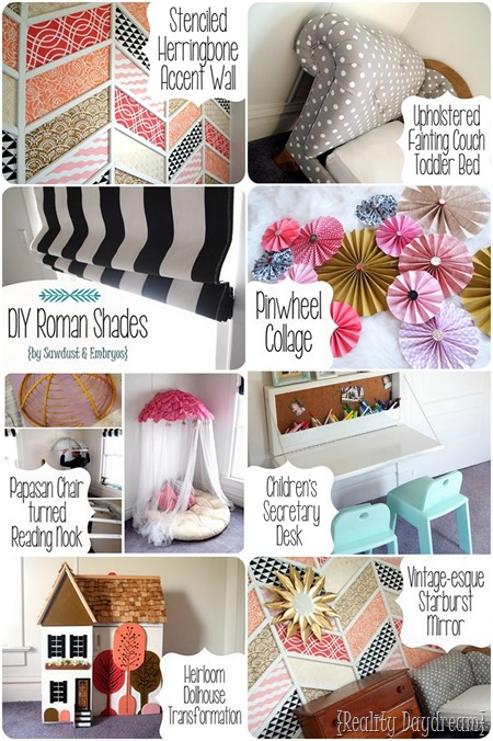 Tons of cuteness and tutorials for this little girls' room! {Reality Daydream}