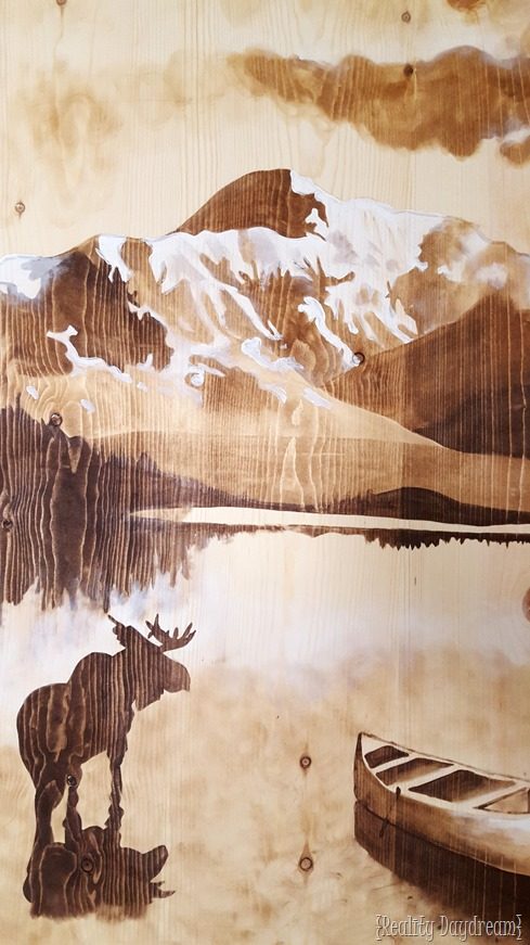 Using wood stain to create legit artwork! {Reality Daydream}