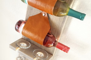 Wall-mounted wine rack with a place for stemware! (Reality Daydream)