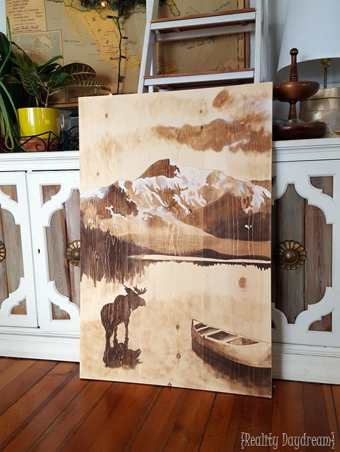Wood Stain Art by Bethany @ Reality Daydream