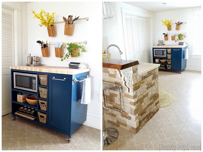 DIY Custom Rolling Kitchen Island Build {Reality Daydream}