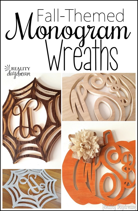 DIY Monogram Wreaths (fall-themed) using a scroll saw! {Reality Daydream}