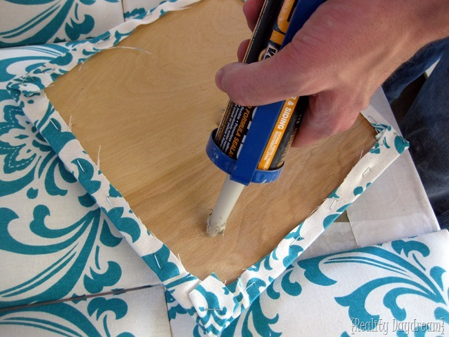 DIY Upholstered 'tufted' headboard