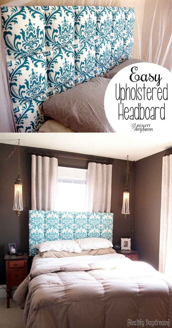 EASY upholstered headboard... no upholstering skills required!