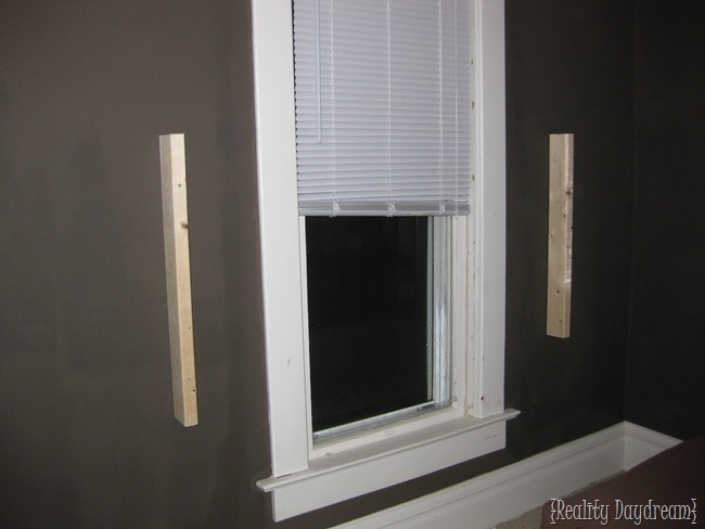 How to affix your headboard in front of a window