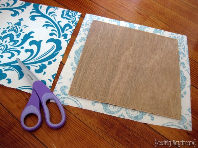 How to make a simple DIY Upholstered Headboard... the cheater way! {Reality Daydream}