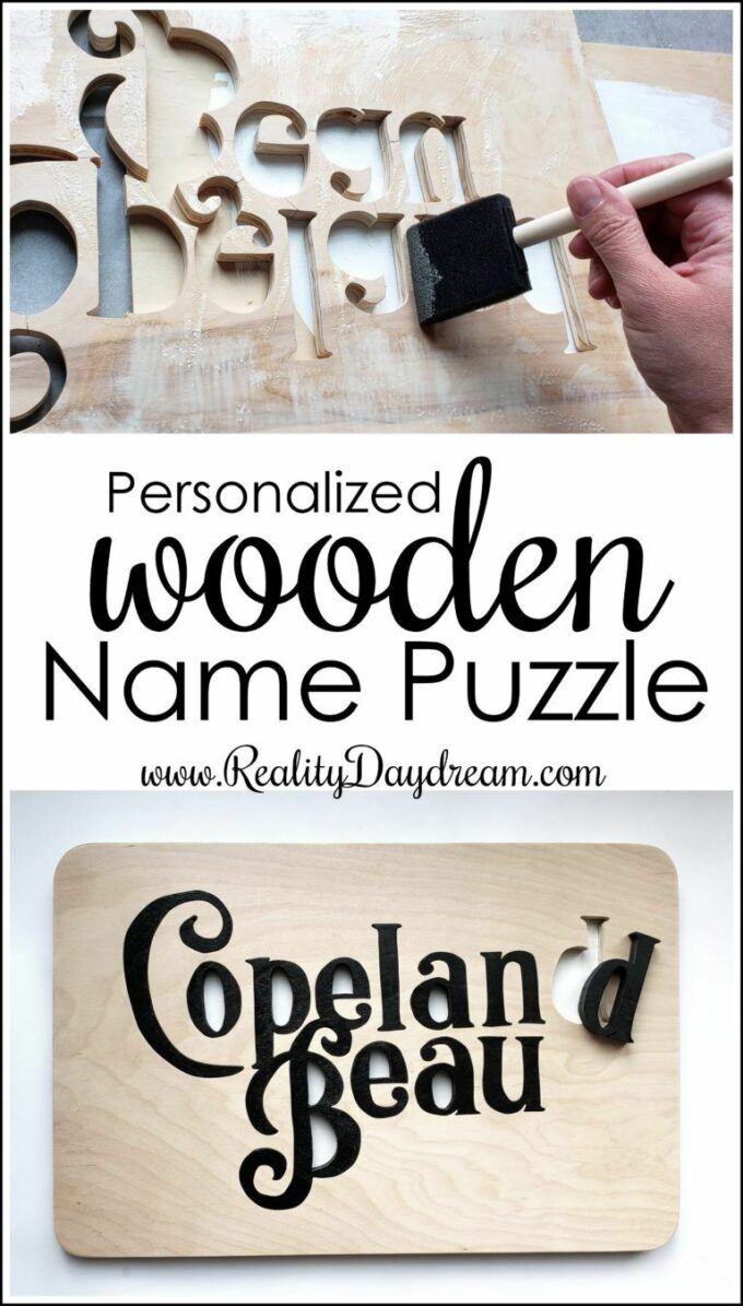 Scroll saw ideas - wooden name puzzle!