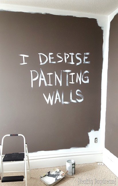 Painting over a dark color with white! {Reality Daydream}