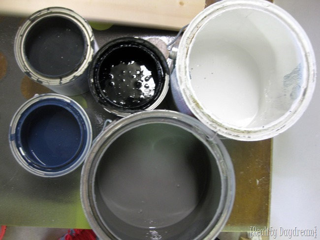 Pick some shades of paint to tint your 'barnboards' ...super simple tutorial for making NEW wood look OLD! {Reality Daydream}