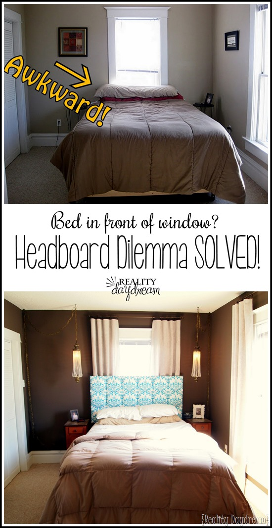 SUCH a smart fix to that epic problem of having a headboard in front of a window!