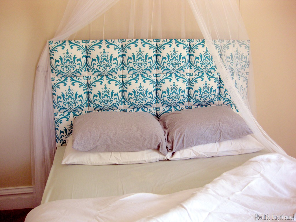 Cover Headboard With Fabric Easy Upholstered Headboard Tutorial Reality Daydream