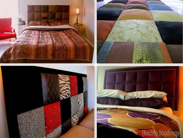 Upholster individual square boards to make a gorgeous and SIMPLE headboard!