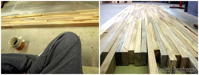 The Next Step In Building Your Own Butcher Block Countertop Is To Glue The  Pieces Of
