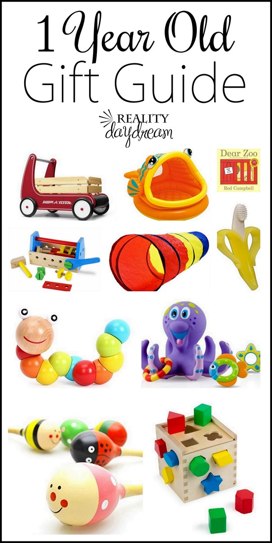 Lots of ideas for gifts for one year olds!