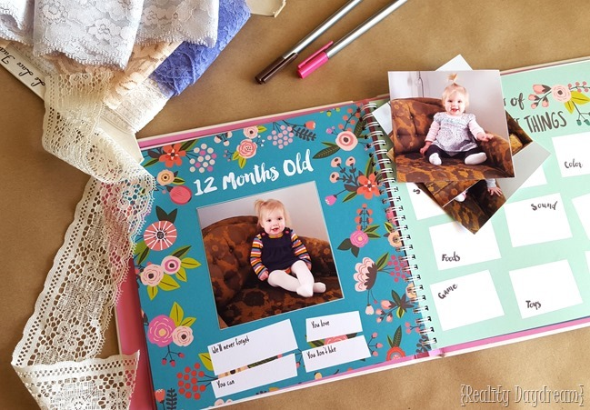 CUTEST baby book everrrrr. There's a boy version too! Perfect baby shower gift idea! {Reality Daydream}