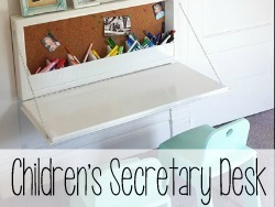 Children's Secretary Desk with lots of storage inside! {Reality Daydream}